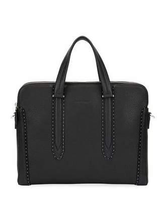 Salvatore Ferragamo Men's Firenze Studded Leather Briefcase