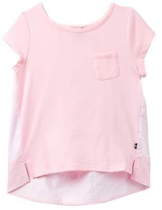 Nautica Striped & Floral Hi-Lo Hem Tee (Big Girls)
