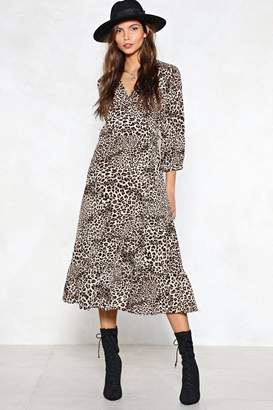 Nasty Gal Fast Track Leopard Dress