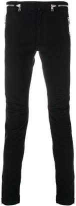 Balmain multi-zip skinny jeans