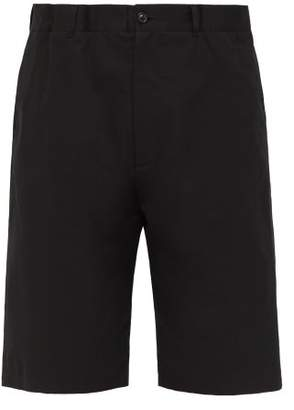 Maison Margiela Elasticated Waist Cotton Twill Shorts - Mens - Black