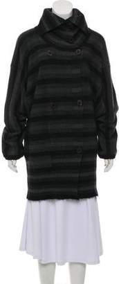 Sonia Rykiel Striped Wool & Mohair Blend Turtleneck Sweater
