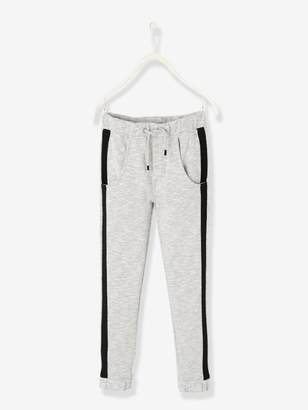 Vertbaudet Fleece Joggers with Stripes Down the Leg for Boys