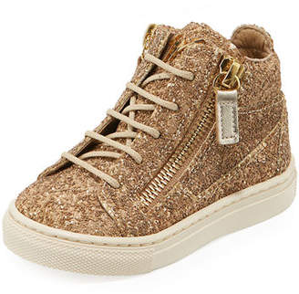 Giuseppe Zanotti Mattglitt Hitop Glitter High-Top Sneakers, Infant/Toddler Sizes 6M-9T