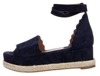 Chloé Suede Scalloped Sandals
