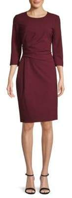 Lafayette 148 New York Ruched Solid Dress