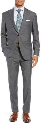 David Donahue Ryan Classic Fit Stretch Check Wool Suit