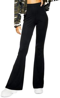 Topshop Cupro Knit Flare Pants