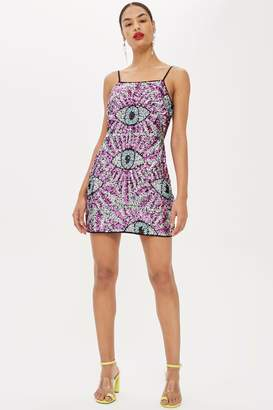 Topshop All Over Sequin Eye Dress by Moon Dreamers