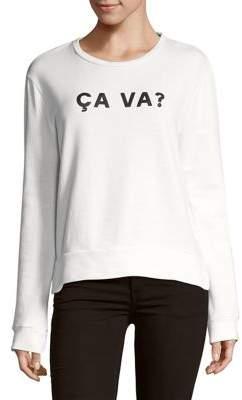 French Connection Ca Va Cotton Sweatshirt