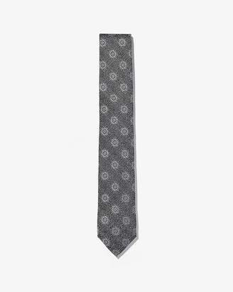 Express Narrow Medallion Pattern Tie
