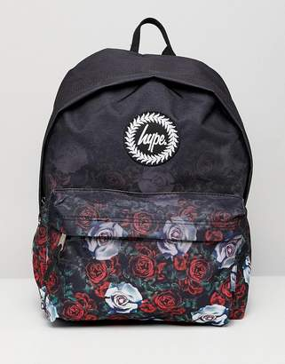 Hype backpack in faded rose print