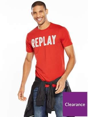 Replay Logo T Shirt