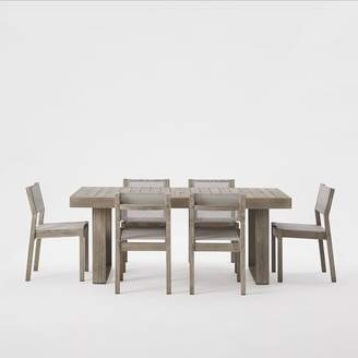 west elm Portside Expandable Dining Table + Chair Set - Weathered Gray