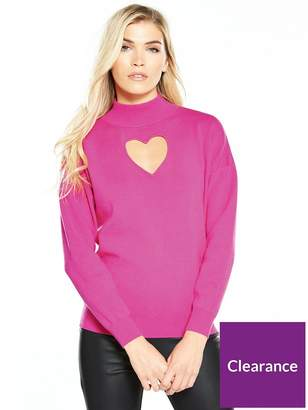 Warehouse Cut Out Jumper - Pink