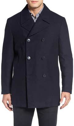 Nordstrom Classic Wool Blend Peacoat $199 thestylecure.com