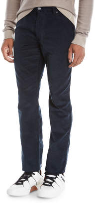 Ermenegildo Zegna Men's Wide-Wale Corduroy Pants, Navy