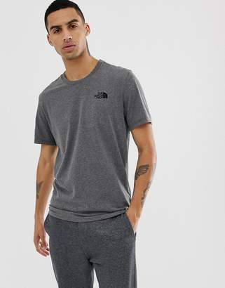 The North Face Simple Dome T-Shirt In Grey Heather