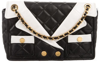 Moschino Jacket Lapels Shoulder Bag $650 thestylecure.com
