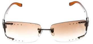 Salvatore Ferragamo Jewel-Embellished Gradient Sunglasses