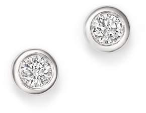 KC Designs 14K White Gold Diamond Bezel Stud Earrings