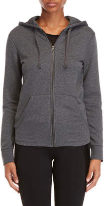 adidas Dark Grey Logo Zip-Up Hoodie