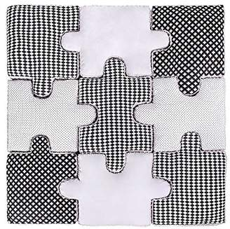 Lulando Puzzle Cushion Set of 9, Soft Puzzle Play Mat Game Mat to Frolic and Play. Ideal for Any Bedroom. Colour: Black and White