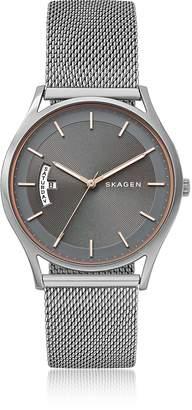 Skagen Holst Steel-Mesh Day Date Men's Watch