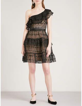 Self-Portrait Floral Chain guipure-lace mini dress