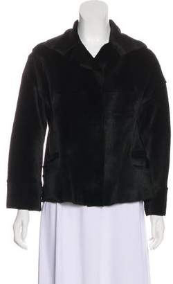 Narciso Rodriguez Fur Long Sleeve Jacket