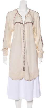 Etoile Isabel Marant Embroidered Long Sleeve Blouse