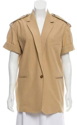 Max Mara Notch-Lapel Short Sleeve Jacket w/ Tags