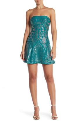 Jump Strapless Glitter Party Dress