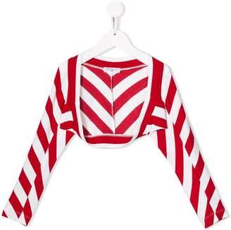 MonnaLisa striped bolero cardigan