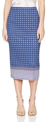 Max Studio Women's Printed Ponte Skirt