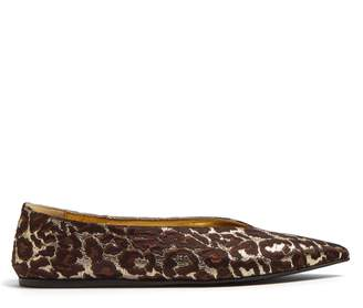 Stella McCartney Leopard-print brocade pointed flats