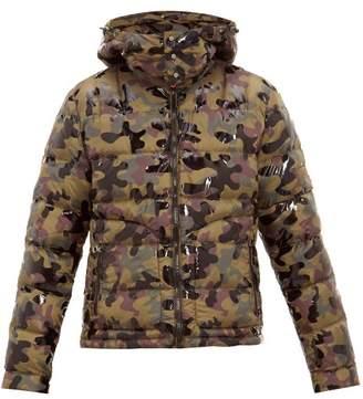 49 Winters - Camouflage Print Hooded Down Jacket - Mens - Khaki Multi