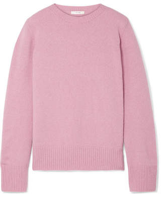 The Row Sibel Oversized Wool And Cashmere-blend Sweater - Baby pink