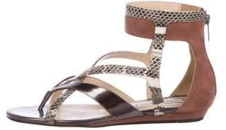 Jimmy Choo Hessie Snakeskin Sandals