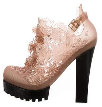 Alexandre Herchcovitch Melissa x Floral Ankle Boots