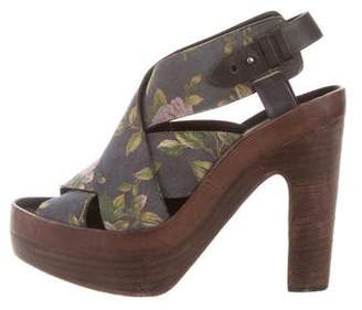 Rag & Bone Floral Crossover Sandals