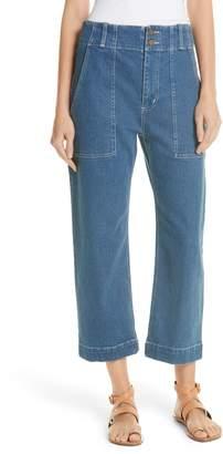Apiece Apart Liv Crop Straight Leg Jeans