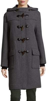 Solid Wool Duffle Coat