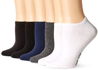 Hot Sox Women's Solid Ped 6 Pack Sock