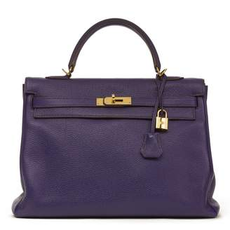 Hermes Kelly 35 leather tote