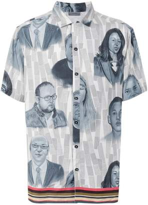 Lanvin face print shirt
