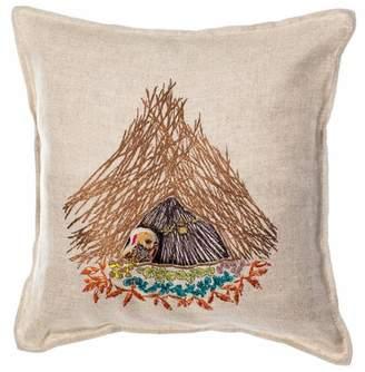 Coral & Tusk Pocket Pillow Bowerbird