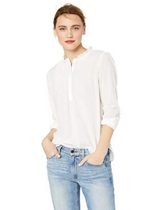 J.Crew Mercantile Women's Solid Pintuck Popover Shirt