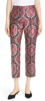 Kate Spade medallion jacquard kick flare pants