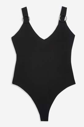 Topshop Ring Detail Thong Bodysuit